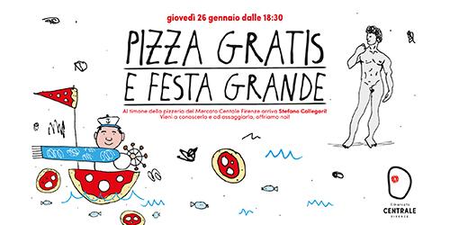 Pizza gratis e festa grande.