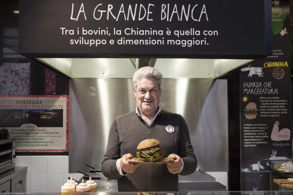 L'Hamburger di Chianina de La Toraia di Enrico Lagorio