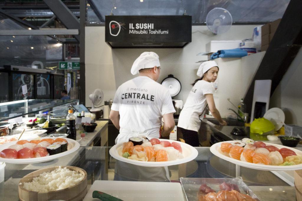 Il sushi di Mitsubiki Toshifumi al Mercato Centrale Firenze