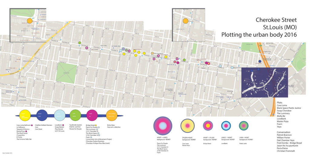 Plotting the urban Body 2016 St.Louis MO - CHEROKEE-STREET - Cartografia energetica