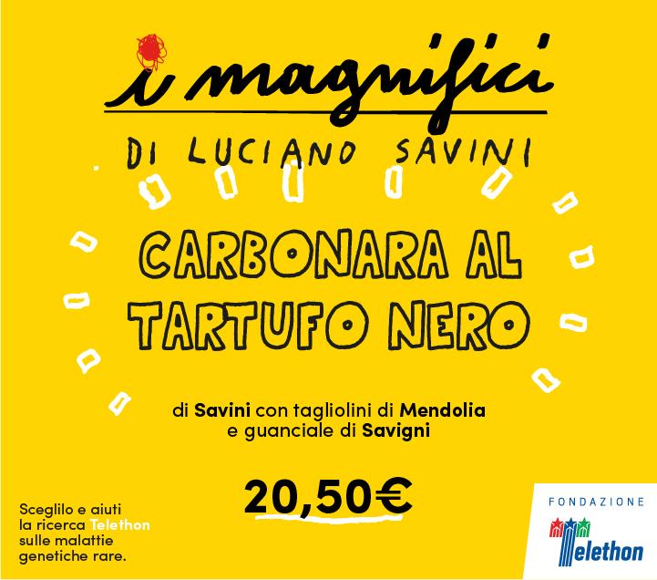 Mercato Centrale Firenze   I Magnifici - Carbonara al Tartufo Nero di Luciano Savini