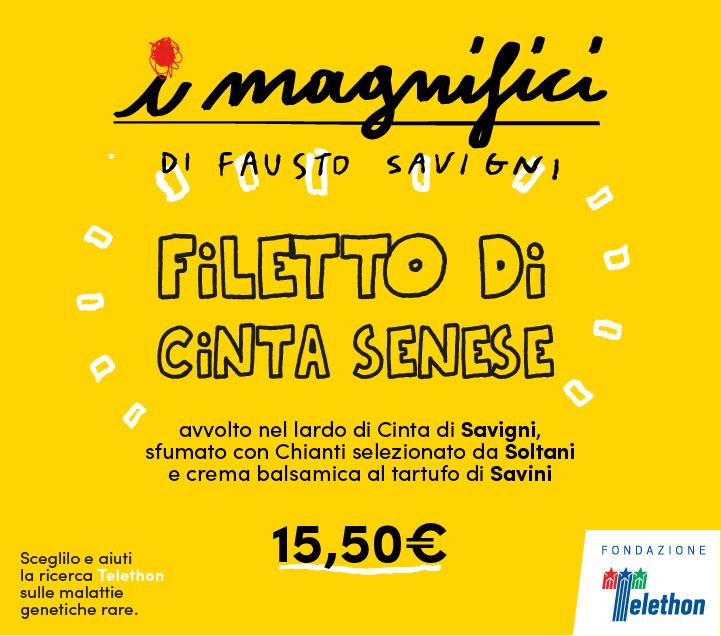 Mercato Centrale Firenze | I Magnifici - Filetto di Cinta Senese di Fausto Savigni